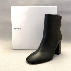 Vince Felton Black Leather Bootie